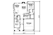 Ranch Floor Plan - Main Floor Plan Plan #20-2304