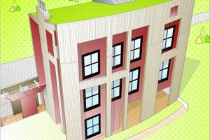 Modern Exterior - Front Elevation Plan #525-1