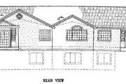 Adobe / Southwestern Style House Plan - 6 Beds 3 Baths 3374 Sq/Ft Plan #24-118 Exterior - Rear Elevation