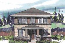 Prairie Exterior - Front Elevation Plan #509-408