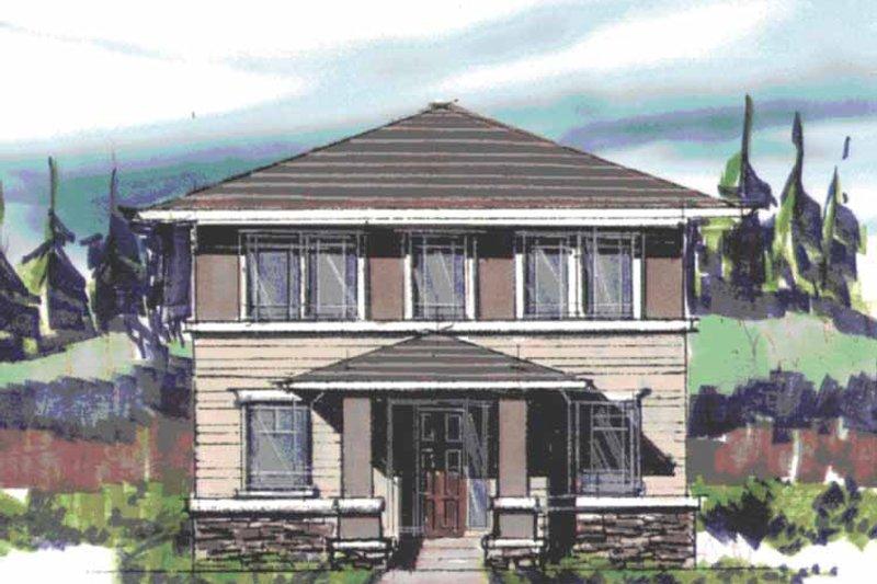 Prairie Exterior - Front Elevation Plan #509-408 - Houseplans.com