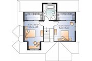 Country Style House Plan - 3 Beds 2 Baths 1534 Sq/Ft Plan #23-2372 Floor Plan - Upper Floor Plan