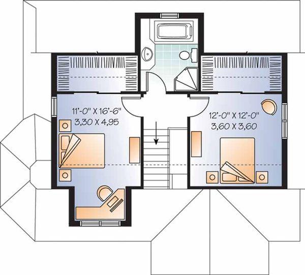 Country Floor Plan - Upper Floor Plan Plan #23-2372