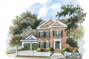 Home Plan Design - Colonial Exterior - Front Elevation Plan #429-235