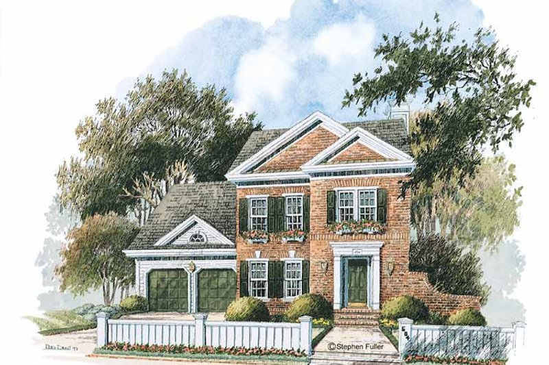 Home Plan - Colonial Exterior - Front Elevation Plan #429-235