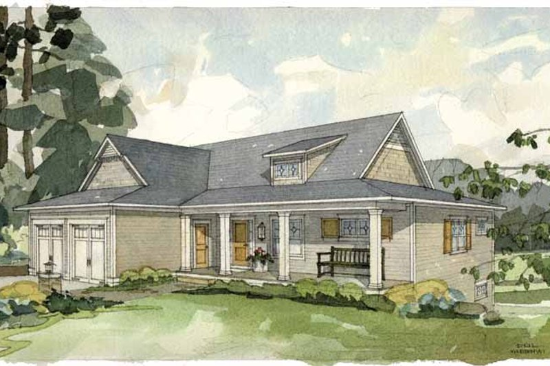 Craftsman Exterior - Front Elevation Plan #928-81 - Houseplans.com