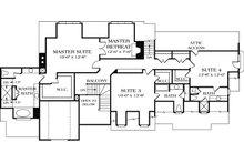 European Floor Plan - Upper Floor Plan Plan #453-15