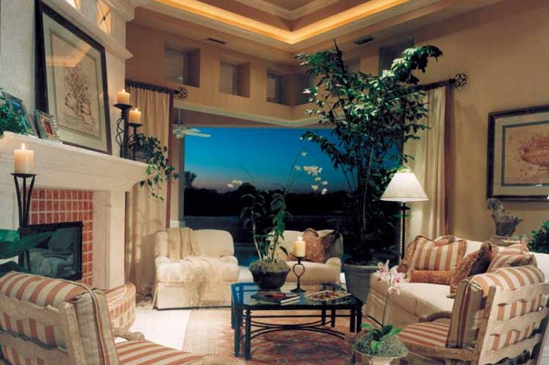 Mediterranean Interior - Family Room Plan #930-110 - Houseplans.com