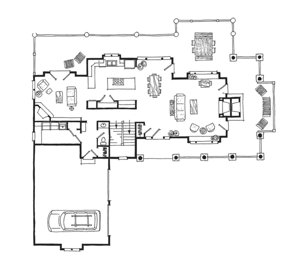 Cabin Floor Plan - Main Floor Plan Plan #942-36