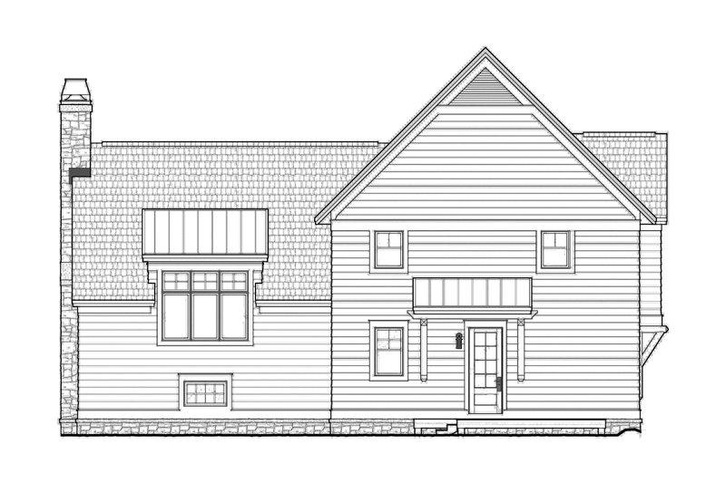 Contemporary Exterior - Rear Elevation Plan #928-274 - Houseplans.com