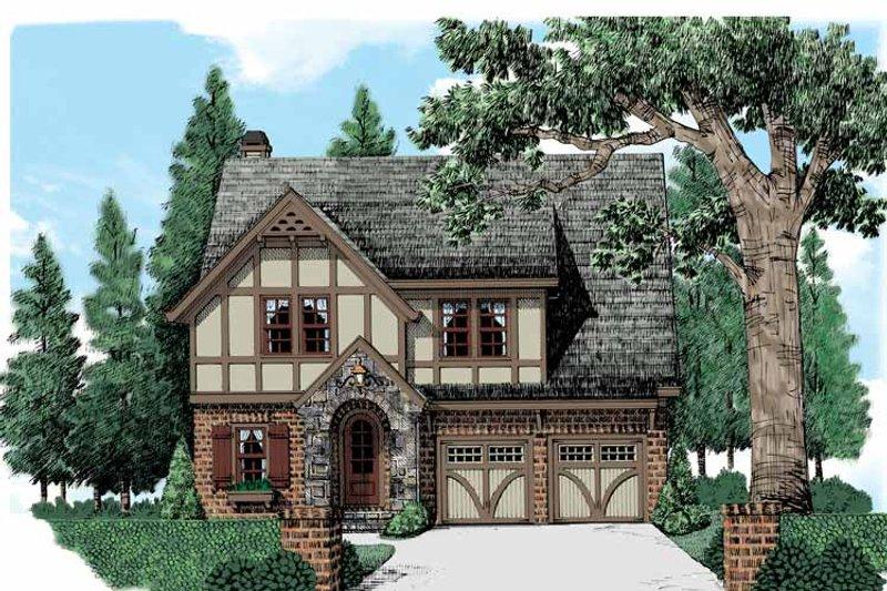 European Exterior - Front Elevation Plan #927-543 - Houseplans.com
