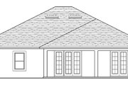 Colonial Style House Plan - 3 Beds 2 Baths 2320 Sq/Ft Plan #1058-124 Exterior - Rear Elevation