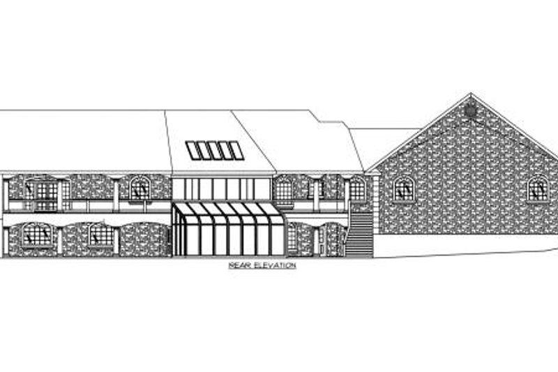 Ranch Exterior - Rear Elevation Plan #117-563 - Houseplans.com