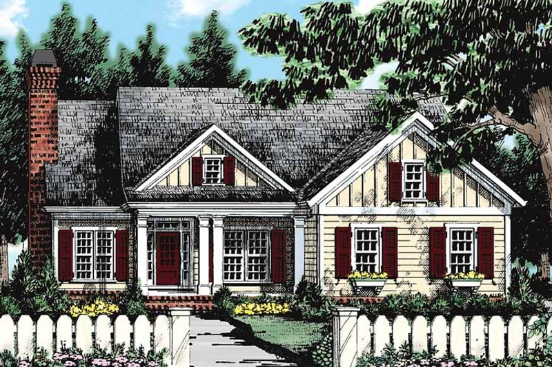 Country Exterior - Front Elevation Plan #927-132 - Houseplans.com