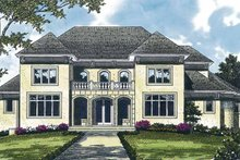 Home Plan - Mediterranean Exterior - Front Elevation Plan #453-326