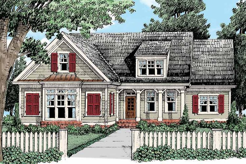 Home Plan - Country Exterior - Front Elevation Plan #927-428