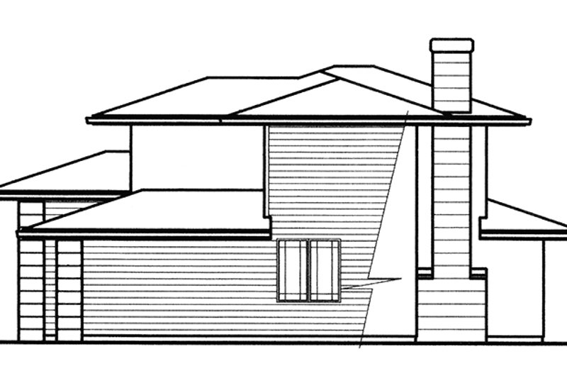 Prairie Exterior - Other Elevation Plan #509-78 - Houseplans.com