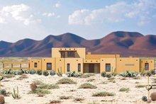 Home Plan - Adobe / Southwestern Exterior - Front Elevation Plan #84-649