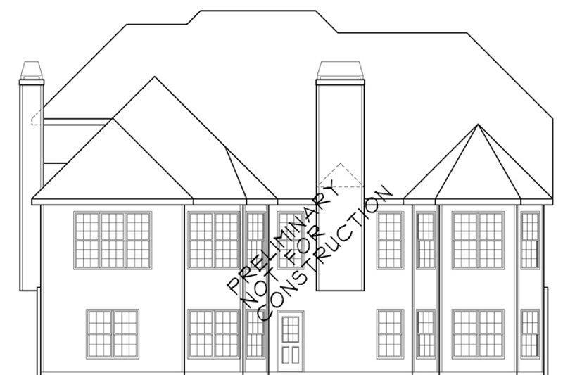 European Exterior - Rear Elevation Plan #927-931 - Houseplans.com