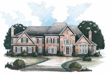 Home Plan - Traditional Exterior - Front Elevation Plan #429-135