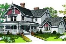 House Blueprint - Farmhouse Exterior - Front Elevation Plan #72-186