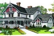 House Plan Design - Farmhouse Exterior - Front Elevation Plan #72-186