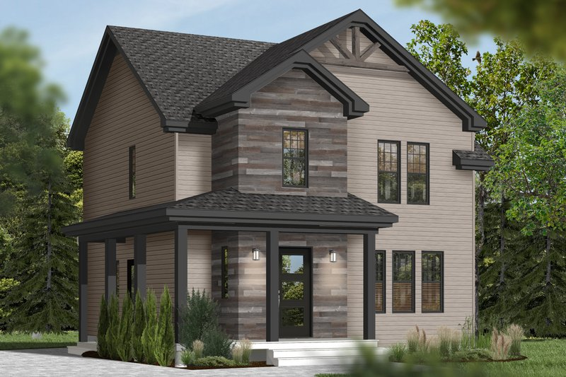 House Plan Design - Country Exterior - Front Elevation Plan #23-2407
