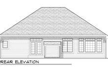 Home Plan - Bungalow Exterior - Rear Elevation Plan #70-946