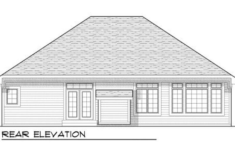 Bungalow Exterior - Rear Elevation Plan #70-946 - Houseplans.com