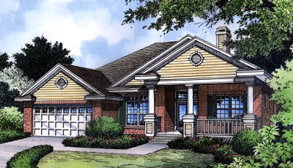 Traditional Exterior Front Elevation Plan 417 127