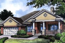 Dream House Plan - Traditional Exterior - Front Elevation Plan #417-127