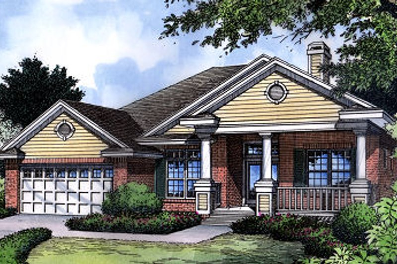 Architectural House Design - Traditional Exterior - Front Elevation Plan #417-127