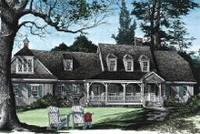 Dream House Plan - Country Exterior - Front Elevation Plan #137-131