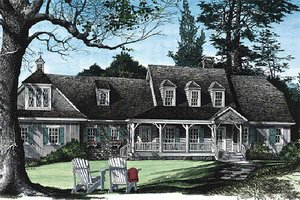 Country Exterior - Front Elevation Plan #137-131