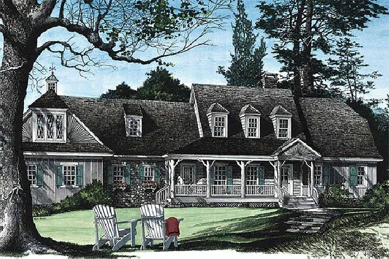 Country Exterior - Front Elevation Plan #137-131 - Houseplans.com
