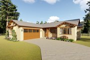 Adobe / Southwestern Style House Plan - 3 Beds 2 Baths 1619 Sq/Ft Plan #126-172