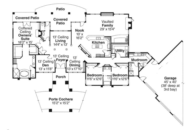 Prairie Floor Plan - Main Floor Plan Plan #124-665