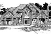 European Style House Plan - 4 Beds 3.5 Baths 3110 Sq/Ft Plan #310-180 Exterior - Front Elevation