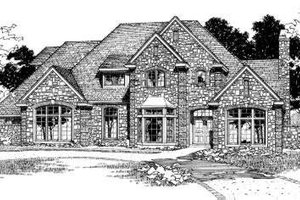 European Exterior - Front Elevation Plan #310-180