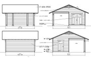 Traditional Style House Plan - 0 Beds 0 Baths 360 Sq/Ft Plan #922-8