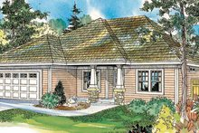 Craftsman Exterior - Front Elevation Plan #124-745