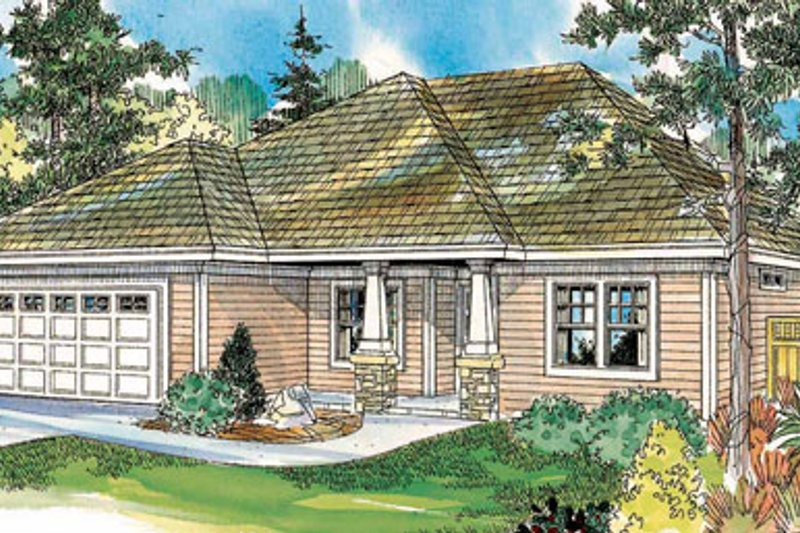 Craftsman Exterior - Front Elevation Plan #124-745