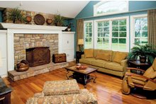 Architectural House Design - Country Interior - Family Room Plan #929-13