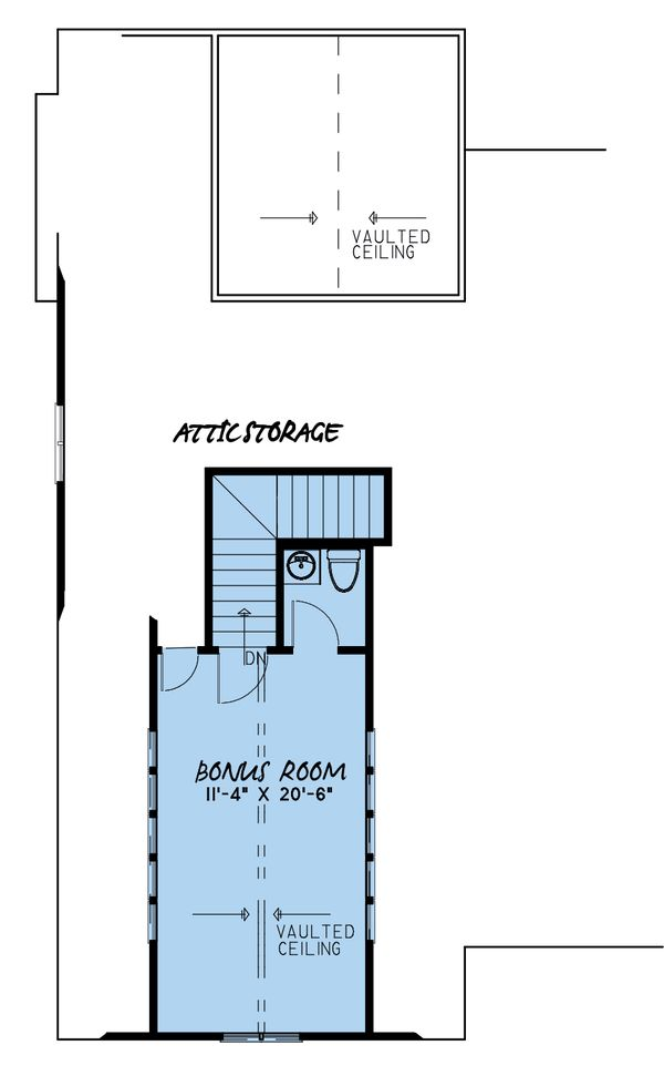 Country Floor Plan - Upper Floor Plan #923-130