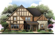 Home Plan - Tudor Exterior - Front Elevation Plan #119-335