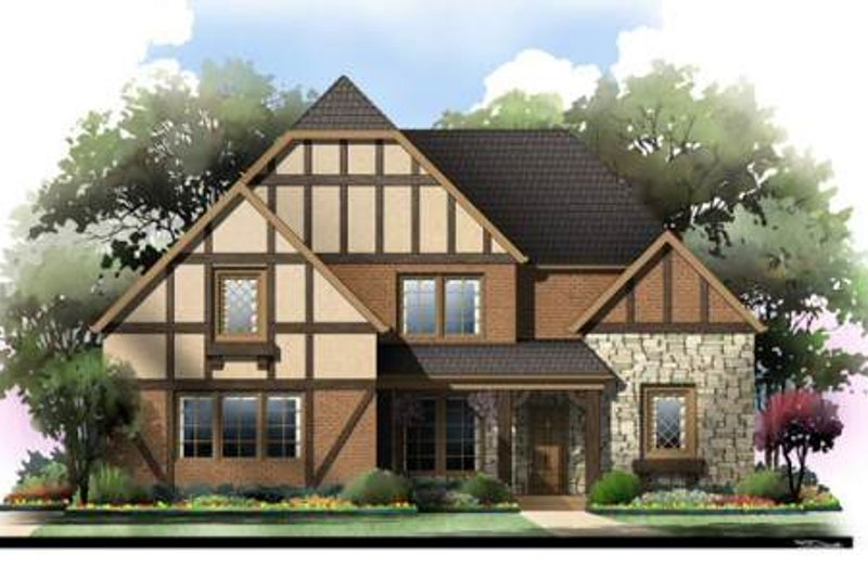 Tudor Exterior - Front Elevation Plan #119-335