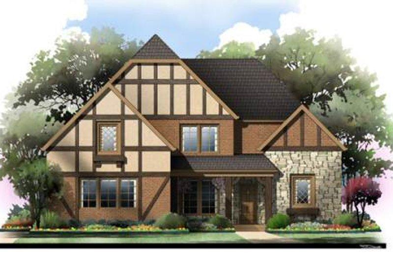 Dream House Plan - Tudor Exterior - Front Elevation Plan #119-335