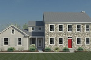 Colonial Exterior - Front Elevation Plan #446-2
