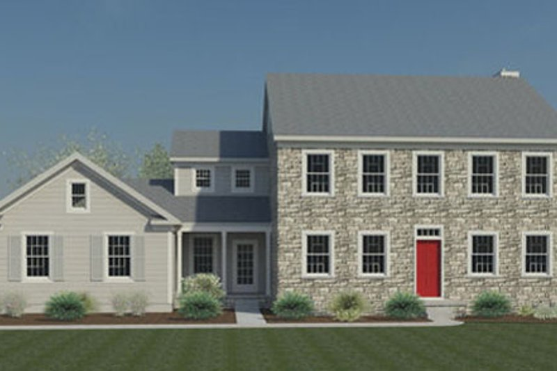Colonial Style House Plan - 4 Beds 2.5 Baths 2423 Sq/Ft Plan #446-2 Exterior - Front Elevation