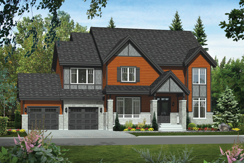 Traditional Style House Plan - 3 Beds 2 Baths 3095 Sq/Ft Plan #25-4499 Exterior - Front Elevation